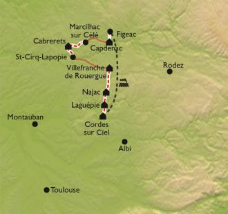Carte Terre d'Histoire, villages d'exception