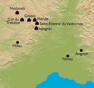 Carte Urbain V de Nasbinals à Ispagnac