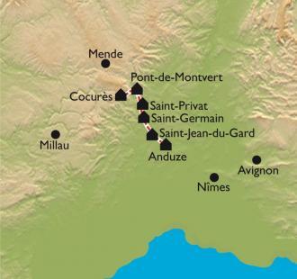 Carte Urbain V d'Ispagnac à Anduze