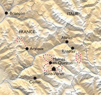 Carte Les balcons du Queyras