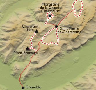 Carte Raquette balnéo en Chartreuse