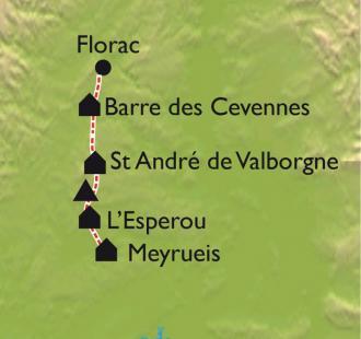 Carte Tour du Mont Aigoual VTT