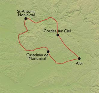 Carte Albi et les Bastides Albigeoises à VTT