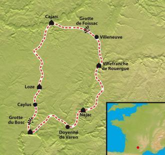 Carte Bastides et Gorges de l'Aveyron