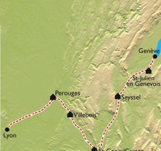 Carte La Via Rhona à vélo