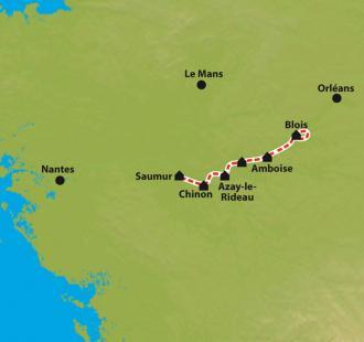 Carte Les Châteaux de la Loire, de Blois à Saumur