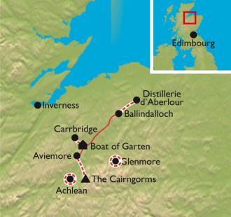 Carte Écosse, montagnes sauvages et malt