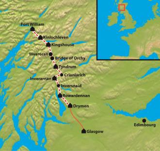 Carte Trek du Great Glen