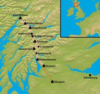 Carte Trek du West Highland Way