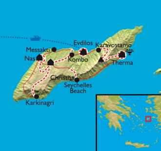 Carte Ikaria, source de vie