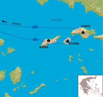Carte Ikaria, Samos, Patmos