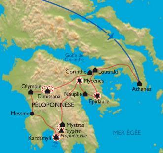 Carte Péloponnèse, le miracle grec !