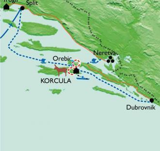 Carte La Croatie à pied, en kayak et à vélo  !