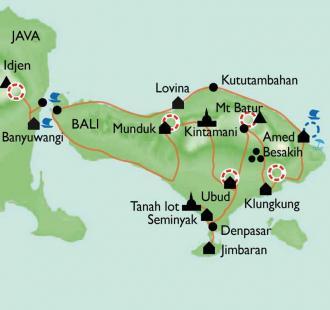 Carte Indonésie-Bali, domaine enchanté