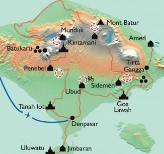Carte Bali en famille