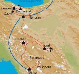 Carte Montagnes légendaires et villes éternelles de Perse