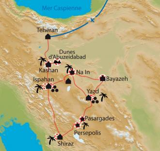 Carte De citadelles en châteaux, voyage au fil de l'Orient.