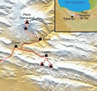 Carte Le Damavand en ski de randonnée