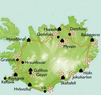 Carte Islande, au pays des elfes et des trolls