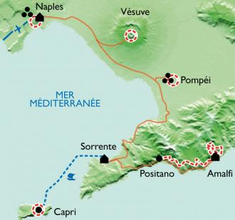 Carte La côte Amalfitaine