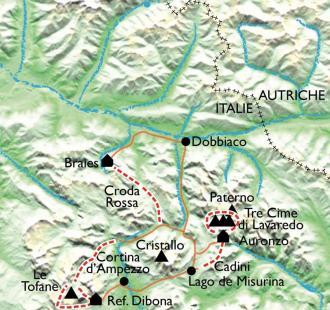Carte Les Dolomites, les Citadelles de roc