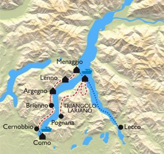 Carte Au bord du Lac de Côme
