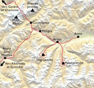 Carte Le massif du Grand Paradis