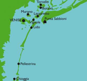 Carte Venise, l'exquise...