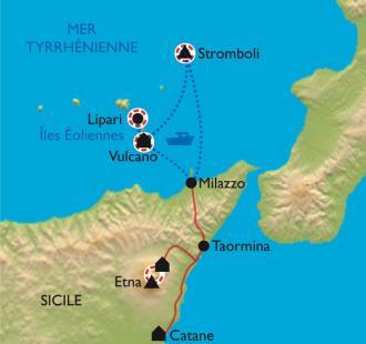 Carte Etna, Stromboli et Vulcano pour de vrai !