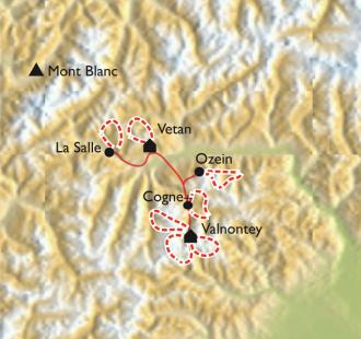 Carte Val d'Aoste et Val de Cogne, Le Grand Paradis