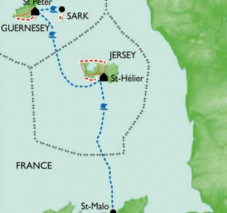 Carte Jersey, Guernesey et Sark