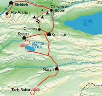 Carte Tien Shan, sur les sentiers d'Asie Centrale