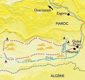 Carte Dunes et oasis du Sud marocain