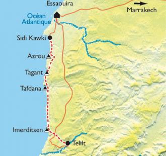 Carte Essaouira et la côte Atlantique