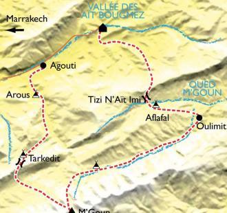 Carte Des Aït Bougmez au sommet du M'Goun