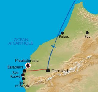 Carte Le long de la côte atlantique