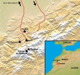 Carte Ascension du Toubkal