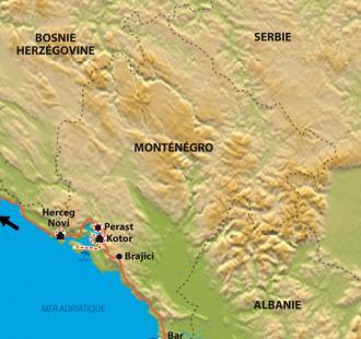 Carte Le Monténegro, hors sentiers battus