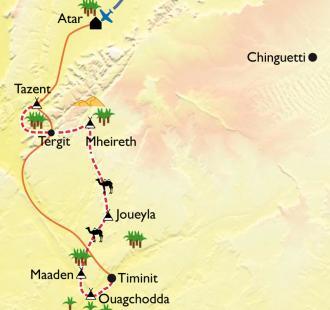 Carte Canyons et oasis de l'Adrar