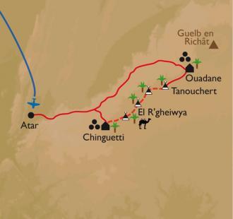 Carte Ouadane - Chinguetti