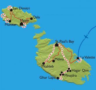Carte Malte, Gozo et Comino, 3 îles au cœur de la Méditerranée