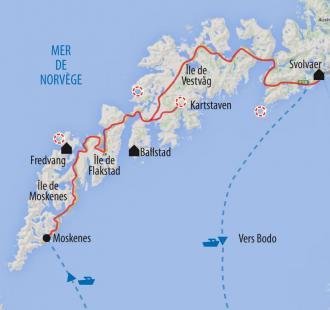 Carte Hiver boréal aux Lofoten