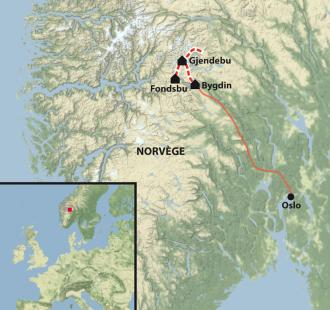 Carte Des montagnes au fjord : trek dans le Jotunheimen