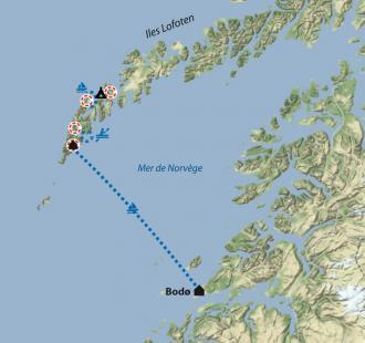 Carte Les îles Lofoten en famille
