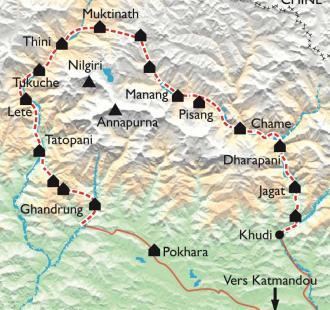 Carte Le Grand Tour de l'Annapurna