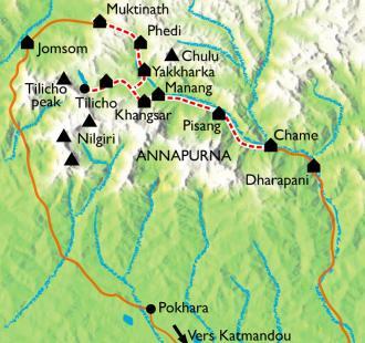 Carte Tour des Annapurnas