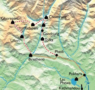 Carte Le balcon des Annapurnas