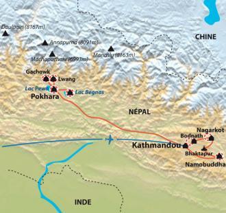 Carte Rando-Yoga au Népal