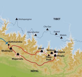 Carte Solu, trek du Pikey Peak
