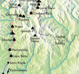 Carte Vallée de la Tsum